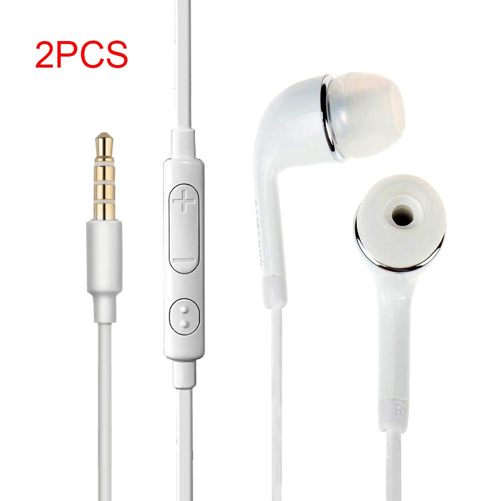 3.5mm In-Ear Great Sound  Earphones with Mic Handsfree White Earphones Control For Samsung Galaxy S7 Note 5 New Headset yl in ear earphones w mic line control for samsung galaxy n7100 note 3 n9000 pink 112cm