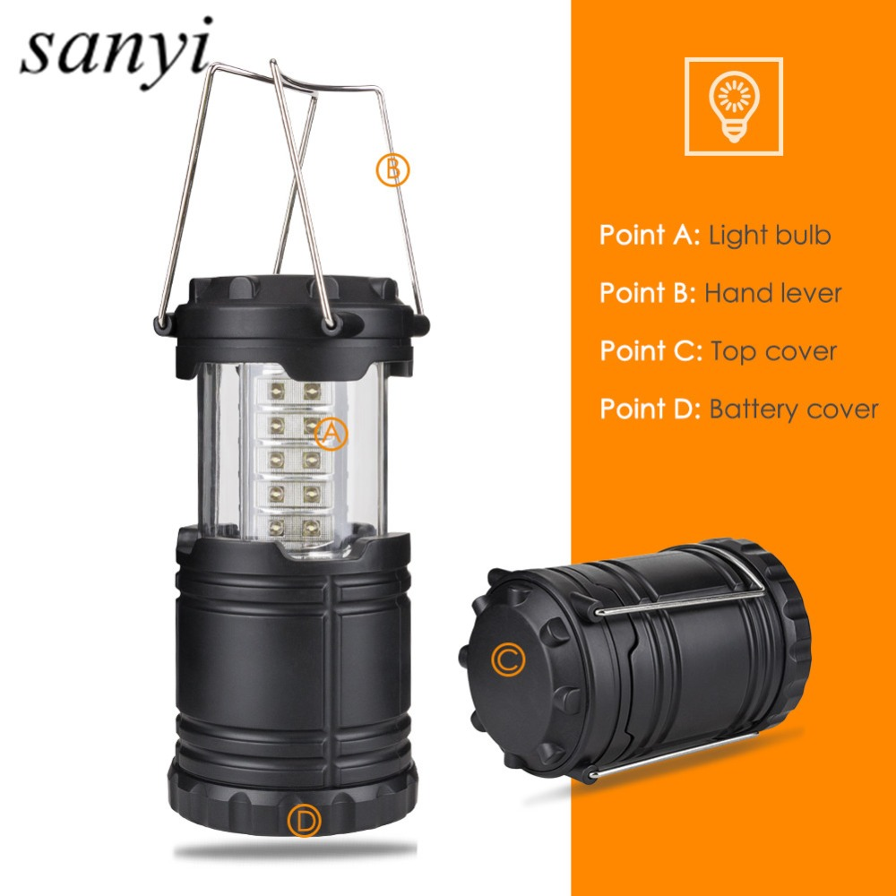 Portable Lanterns Ultra Bright Collapsible 30 Led Lightweight Camping Lanterns Light For Outdoor Hiking Lantern Tent Light