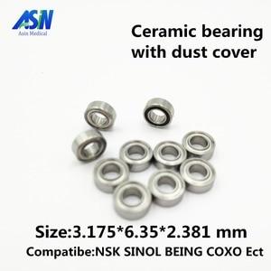 Высококачественные высокоскоростные керамические подшипники nsk tosi coxo, 10 шт., SR144, совместимые стоматологические подшипники 3,175*6,35*2,381 мм ASIN