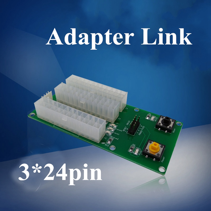 2pcs High Quality 3*24Pin Power Supply Board Connector Dual Triple Multiple Relay Adapter Link Extender Cable for Bitcoin Mining playstation 3 power supply orignal sony part high quality aps 226