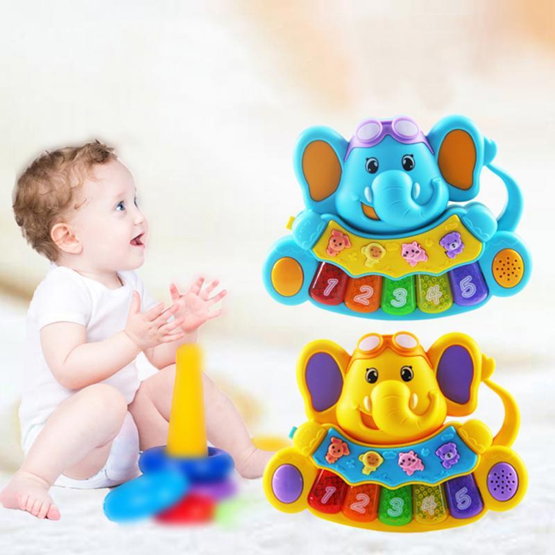 Multifuncional Órgão Eletrônico Com Som Animal Luz Canções Crianças Brinquedos Musicais Cedo Brinquedo Educativo para o Bebê melhor presente