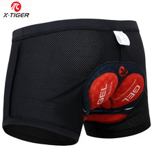 X-Tiger 2020 Cycling Underwear Pro 3D Gel Padded Shockproof Black Underpant Bicycle Bike Underwear Cycling Shorts For Man/Women