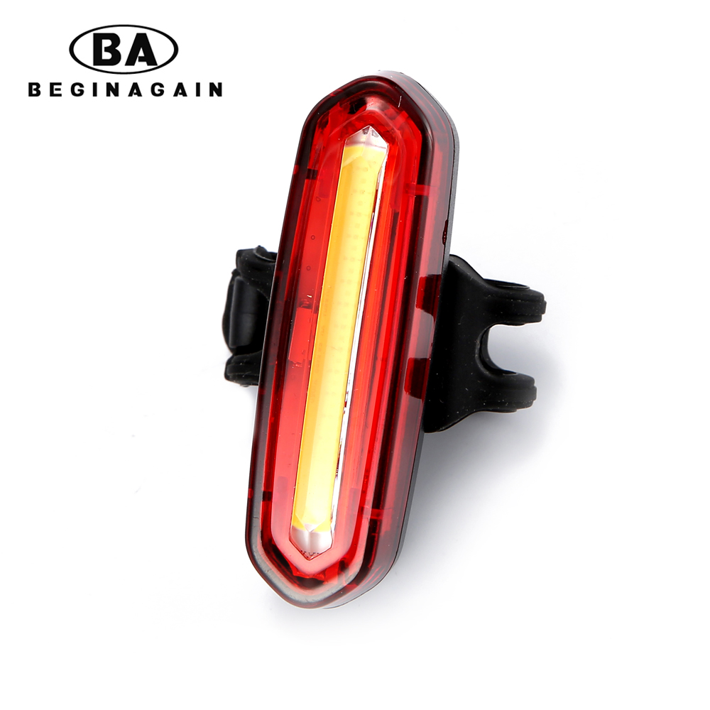 BEGINAGAIN New Bicycle USB Rechargeable LED Light Bike Front / Rear Light Outdoor Cycling Warning Lamp Night Safety Taillight световые часы pink bloom lb 037 35