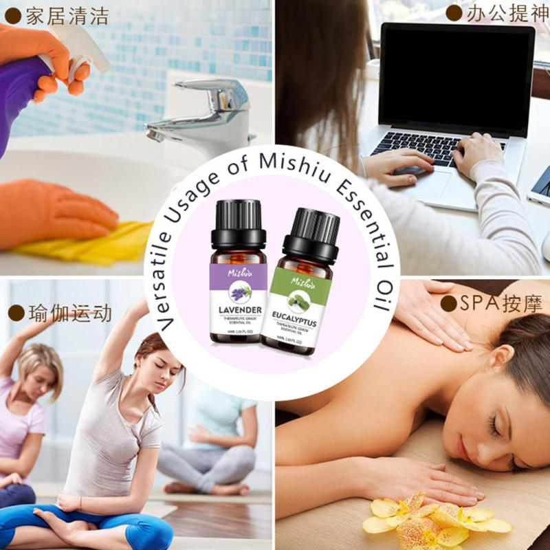 Plant Pure Relaxation Skin Care For Diffusers Aromatherapy Massage Essential Oil Fragrance Organic Flower Fruit Help Sleep #