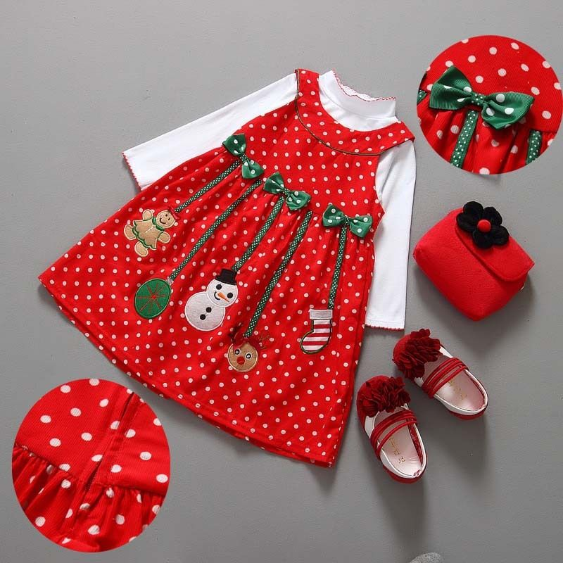 2b5915e6c404 Princess dress girls autumn christmas set girl's Glitter Dresses children  Clothing girls birthday Christmas dress High Quality