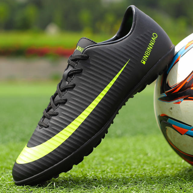 ZHENZU New Men Boys Kids Turf Indoor Soccer Shoes Training Football Boots Soccer Cleats Sports Sneakers Eur Size 35-45
