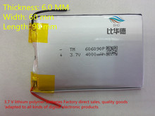 free shipping Polymer lithium ion battery 3 7 V 606090 can be customized wholesale CE