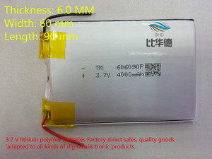 Image 1 - (Darmowa wysyłka) polimerowy akumulator litowo jonowy 3.7 V, 606090 może być dostosowane hurtownie CE FCC ROHS MSDS certyfikat jakości