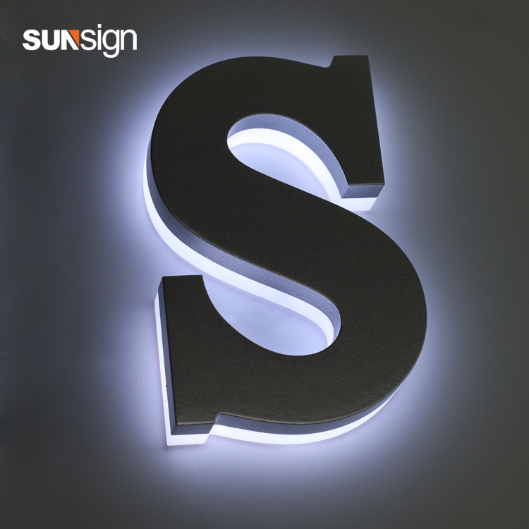 3D Customized Metal Channel Letter Halo Lit LED Advertising Sign