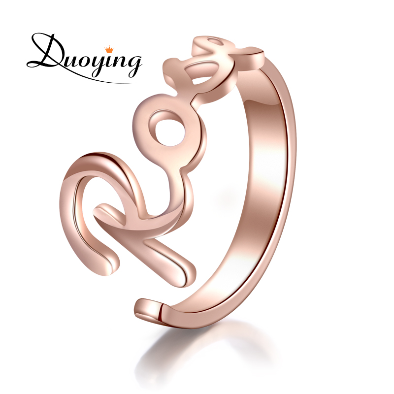 DUOYING Custom Name Ring Gold Color Personalized Fashion Ring Engraved Your Name Handmade Ring Adjustable Wedding Ring For Etsy