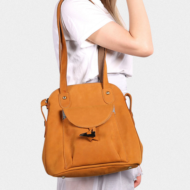 Women Backpack Crazy Horse Cowhide Daypack Casual  Shoulder Bag New Vintage Female Knapsack Travel Rucksack Leather Bag Women Backpack Crazy Horse Cowhide Daypack Casual  Shoulder Bag New Vintage Female Knapsack Travel Rucksack Leather Bag