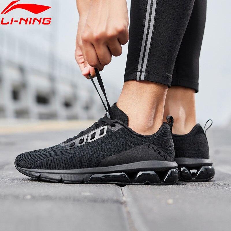 Li Ning Women AIR ARC FLOW Cushion Running Shoes Mono Yarn Wearable LiNing ARC Support Sport