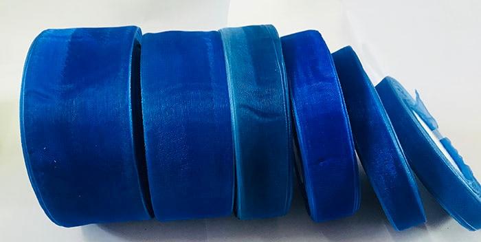 Geinne 12 мм-50 мм шириной 50 ярдов/roll синий сапфир лента из органзы оптовая продажа подарочной упаковки рождественские ленты
