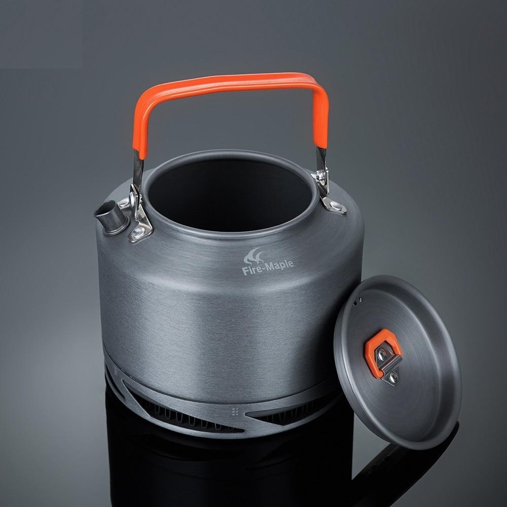 Požarni javor zunanji kamp Pinic izmenjava toplote kotliček za kavo čaj 1.5L s toplotno ročaj čaj filter FMC-XT2