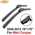 """Qeepei limpiaparabrisas cuchillas para mini cooper 2006-2012 19 """"18"""" alta calidad iso9001 caucho natural limpio parabrisas delantero f03"""