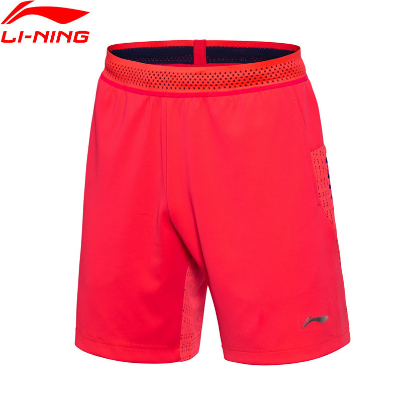 Li-Ning New 2018 Men Badminton Competition Shorts National Team Regular Fit ATDRY Li Ning Professional Sports Shorts AAPN029