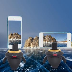 Image 4 - ALLOET חדש מיני Bluetooth מרחוק חשמלי פנורמה ראש 360 סיבוב זמן לשגות חצובה ראש עבור GoPro פעולה מצלמה Selfie מקל