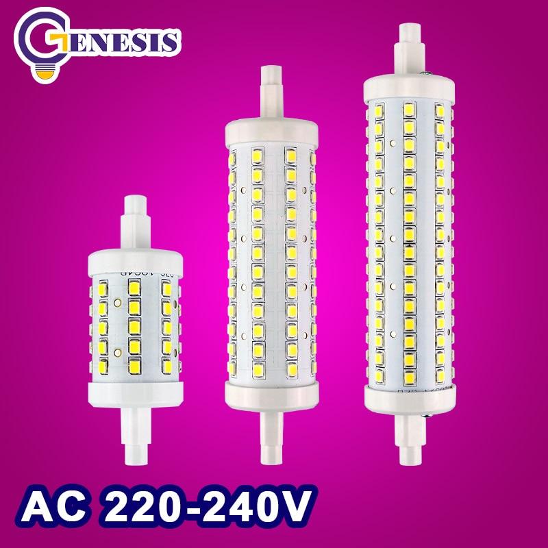 R7S LED Bulb 5W 10W 15w SMD2835 85-265V Dimmable 78mm 118mm 135mm LED Lamp Bulb R7S Light 360 Degree Halogen Lamp Floodlight