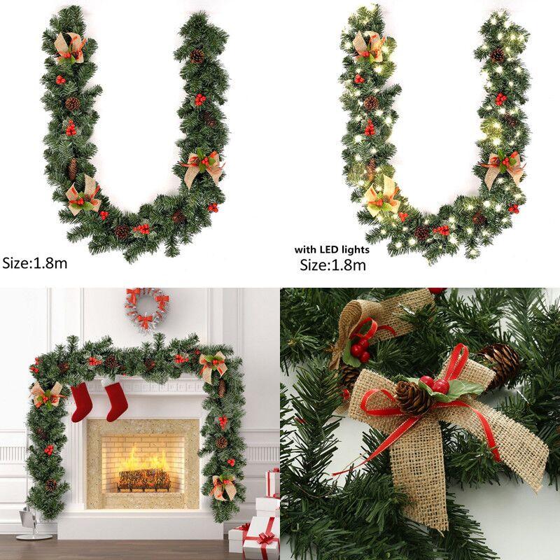 Weihnachten Liefert 1,8 M Weihnachten Dekoration Bar Tops Band Girlande Weihnachten Baum Ornamente Grün Baum Cane Lametta Partei Liefert