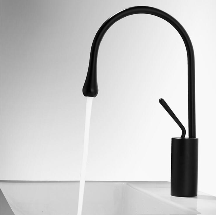 New Style Black White kitchen faucet 360 Rotate Sink tap Chrome Basin kitchen tap Kitchen faucets