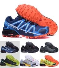 Новые оранжевые Salomon обувь мужская обувь кроссовки Для мужчин Скорость крест 4 CS III Sapato Masculino Скорость Cross Sport кроссовки 40 -47