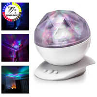 Coversage Night Light Ocean Wave Aurora Sky Speaker Projector Baby Kids Sleep Romantic Led Starry Star Master Changeable Lamp