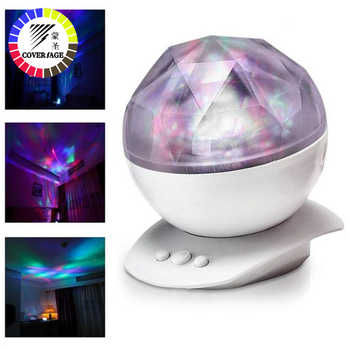 Coversage Night Light Ocean Wave Aurora Sky Speaker Projector Baby Kids Sleep Romantic Led Starry Star Master Changeable Lamp - DISCOUNT ITEM  38% OFF All Category