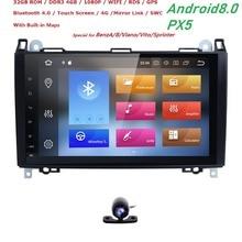 9′ Android 8,0 штатную для Mercedes Benz sprinter Vito W639 Viano W169 W245 W209 W906 Crafter Авторадио PX5 Wi-Fi 4 ГБ + 32 ГБ