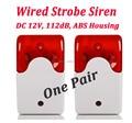 Barato Indoor Siren Alarme com Fio com Strobe Flash Light 12 V para o Sistema de Alarme da Segurança Home Office, Shippingg Livre