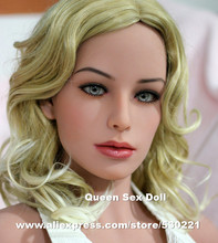 WMDOLL Top quality #126 Brown skin sex doll head for love doll, silicone adult dolls heads with oral sexy