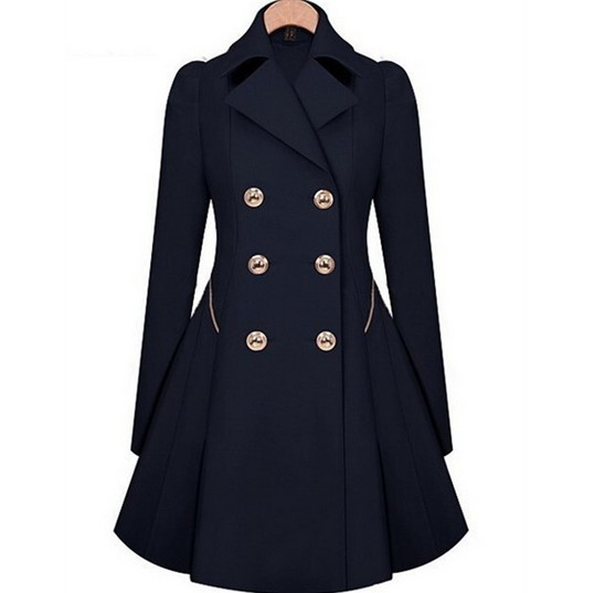 2016 Winter Trench  Womens Coat thin coat Windbreaker Women Trench Slim Female Long Sleeve Overcoat Outerwear Elegent Casual  02