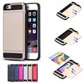 Для iPhone 7 7 Plus 6 6 S Плюс Слайд Броня Слот Для Карты Дело гибридный Жесткий ПК Мягкий ТПУ Hybrid Чехол Для iPhone 7 7 Plus 5S 5C SE
