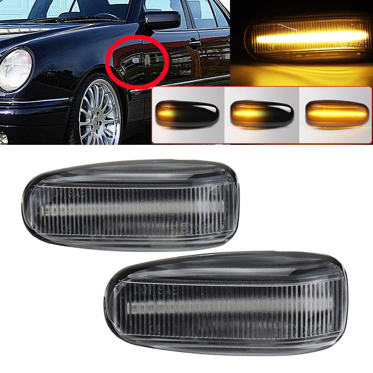 2x Mercedes Vito W639 18-LED Rear Indicator Repeater Turn Signal Light Bulbs