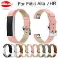 Bracelet de luxe en cuir véritable bracelet de remplacement pour Fitbit Alta/Alta HR Tracker Bracelet de haute qualité bracelet noir