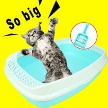 Kitten Toilet Large Cat Litter Box Pet Toilets Training Potty Sand Cat Litter Areia Gato Sort Out Katzen WC Pet Tools 80Z2008