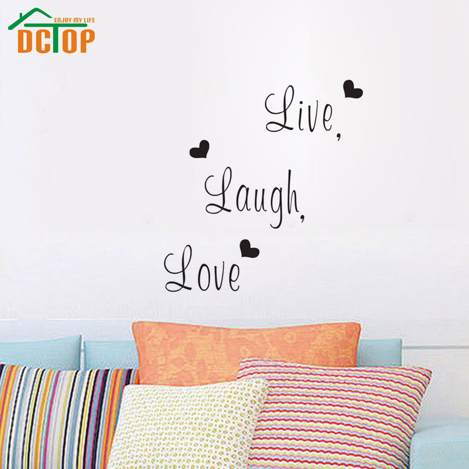 Decorative Wall Decals : Dctop live laugh love family creative wall sticker decals