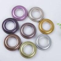 45 יח'\סט פלסטיק אביזרי וילון אגרוף המעגל רומי טבעות טבעות פלסטיק לולאות עבור וילונות אביזרי צבע באופן אקראי