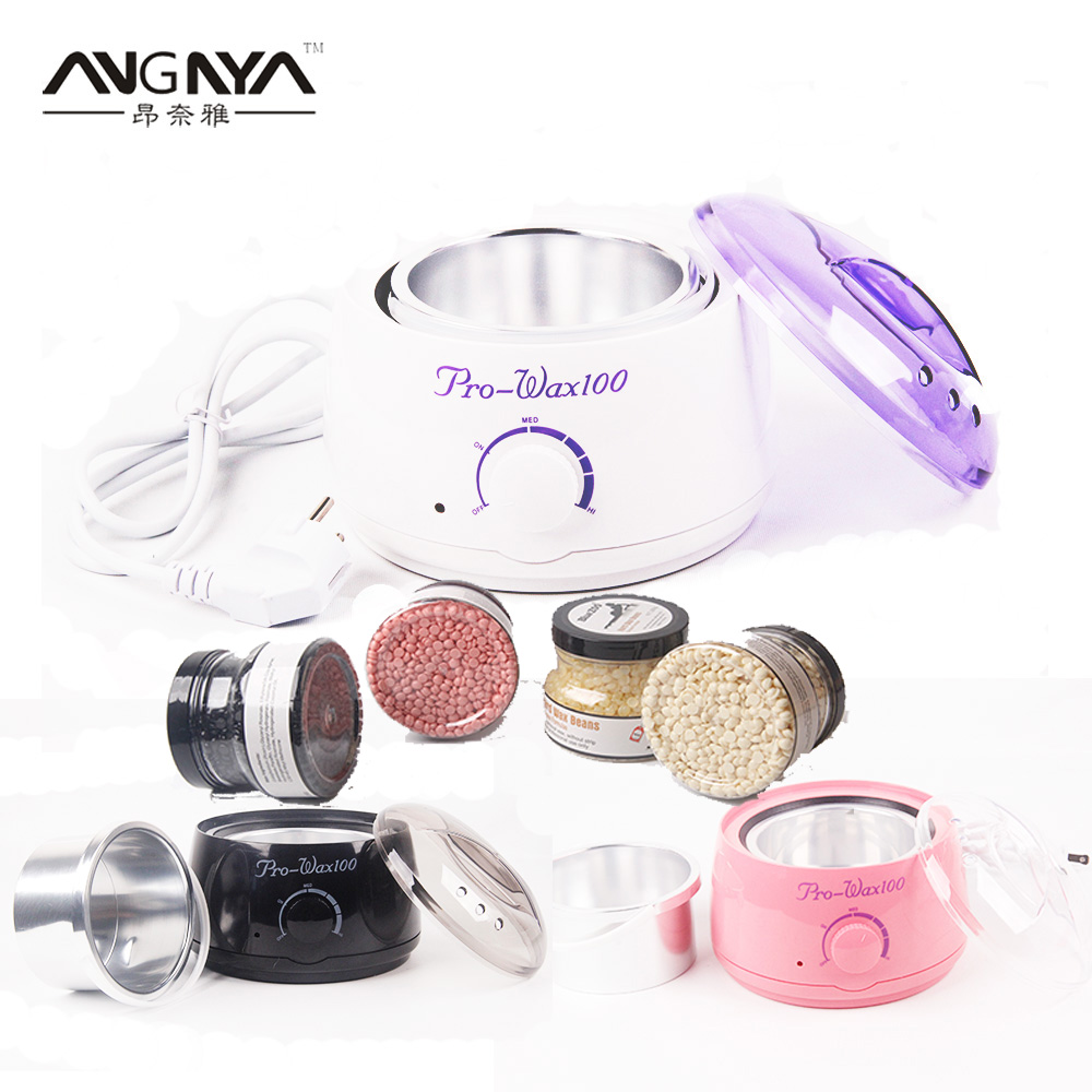 3 Colors Warmer Wax Heater Pot Hair Remover Mini Salon Spa Paraffin Hand Epilator Feet Paraffin +250g Pot Hot Film Hard Wax