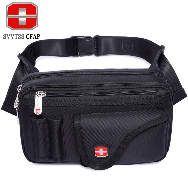 SVVTSSCFAP Men Women Fanny Waist Bag Waist Pack Nylon Waterproof Shoulder Bag Sling Chest Bag Chest pack Black Phone Pouch Gift