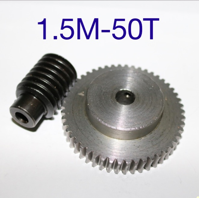 цена на 1.5M-50T reduction ratio:1:50 45Steel worm gear reducer transmission parts wore gear hole:10mm--D:79.5MM rod hole:6mm