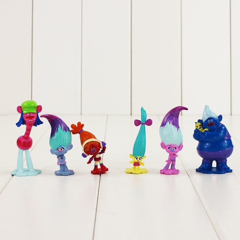 12pcs/lot 5 7.5cm Trolls cute figure model toy Poppy Branch DJ Suki ...