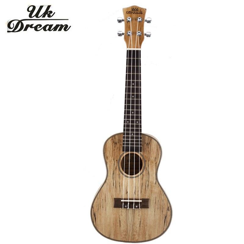 23 polegada Estilo Retro Mini Guitarra Podre Cheio Fechado Botão De Guitarra Instrumentos Musicais Ukulele uku 4 Cordas Guitarras Clássicas UC-EAN