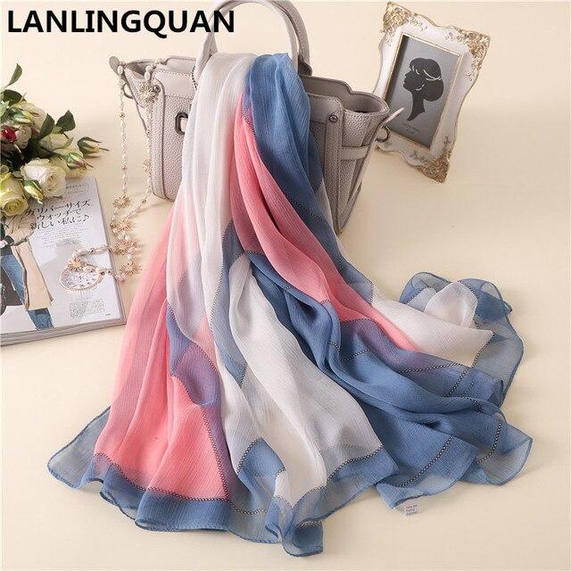 Desigual bandana écharpe de luxe marque 2018 De Mode Femmes Printemps  Automne Chaud Foulards foulards Pashmina ced31e5d14f