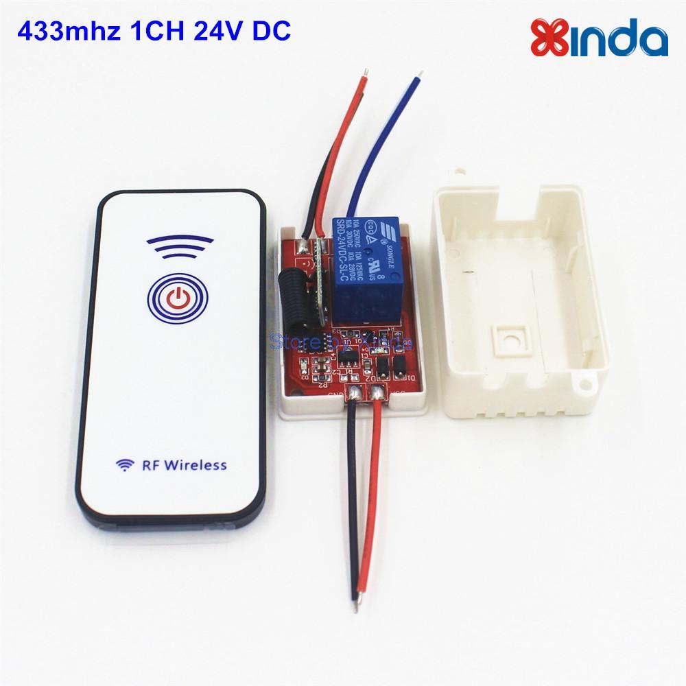 Light Switch Receiver Module 24V 433Mhz Wireless Remote