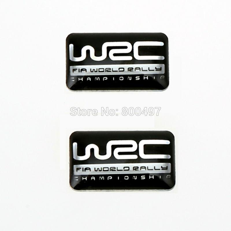 WRC WORLD RALLY CHAMPIONSHIP Placa De Coche Placa-Universal de Aluminio Cepillado