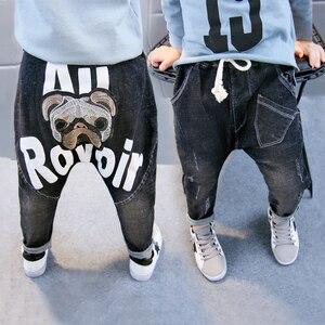 Image 4 - תינוק סתיו מכנסיים 1 3 5 שנים 6 בני ג ינס 2020 אביב ובסתיו ילדים חדשים הרלן מכנסיים גרסה קוריאנית של גאות