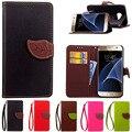 S7/s7 borda case para samsung galaxy s7 carteira de couro da aleta do vintage phone case para samsung s7 edge com slots de cartão fique tampa