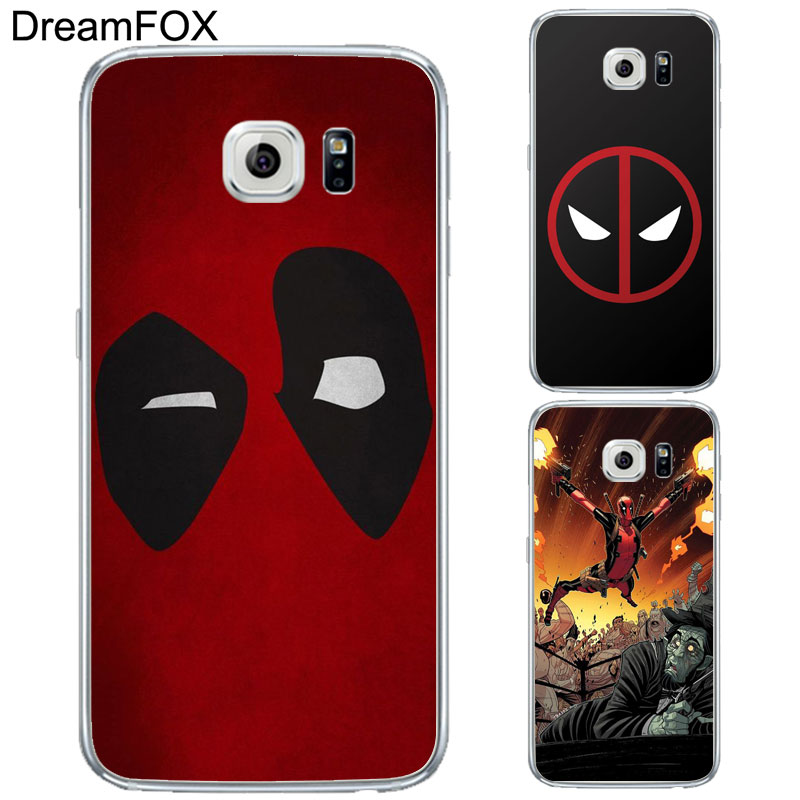 online store 875c5 079dd L143 Deadpool Soft TPU Silicone Case Cover For Samsung Galaxy Note S 3 4 5  6 7 8 9 Edge Plus Grand Prime