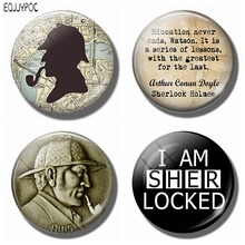 Sherlock Holmes Refrigerator Magnets 30 MM Magnet Fridge Glass Map of London Magnetic Stickers for Ornaments Home Decor