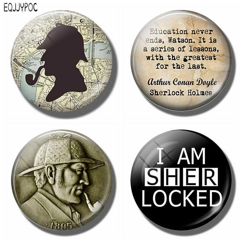 Sherlock Holmes buzdolabı mıknatısları 30 MM Mıknatıs Buzdolabı Cam Harita Londra Manyetik Çıkartmalar Buzdolabı Süsler Ev Dekor